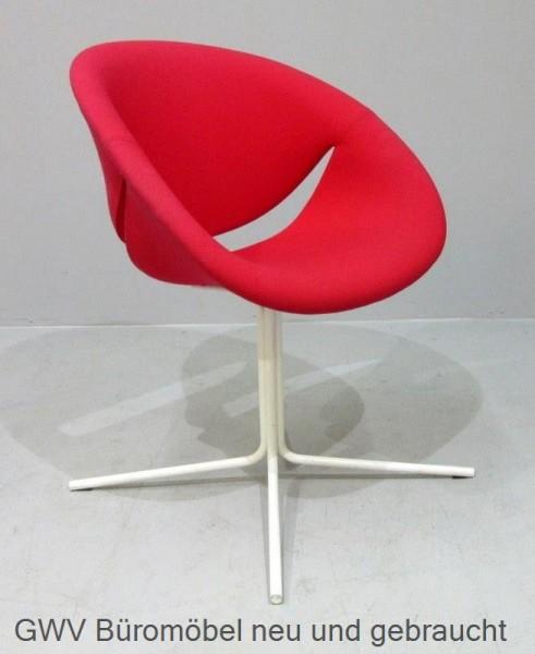 Besucherstuhl rot mit Sitzschale