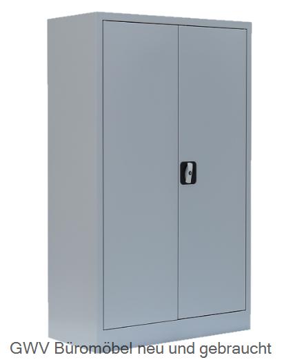 Stahl- Akten- Sideboard 3 OH, B 80 cm lichtgrau