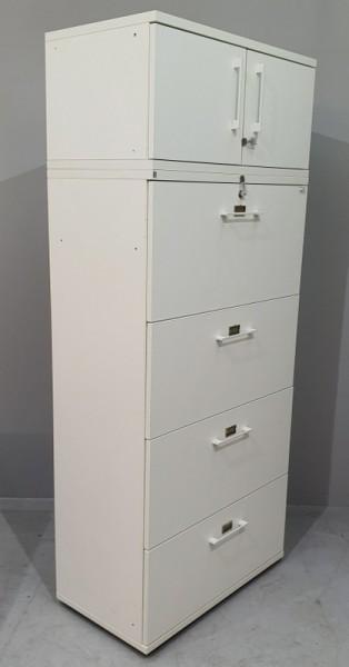 fm - Hängeregisterschrank 4 Schub, B 80 cm weiß