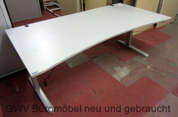CEKA - Steh- Sitz-Schreibtisch 200 cm, sahara Ergo
