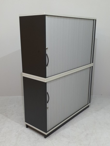 CEKA - Querrolloschrank 4 OH, B 120 cm schwarz