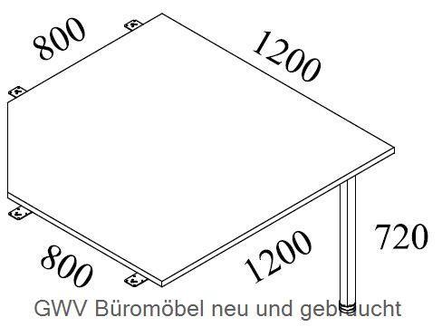 Volleckplatte 120 x 120 cm, grau