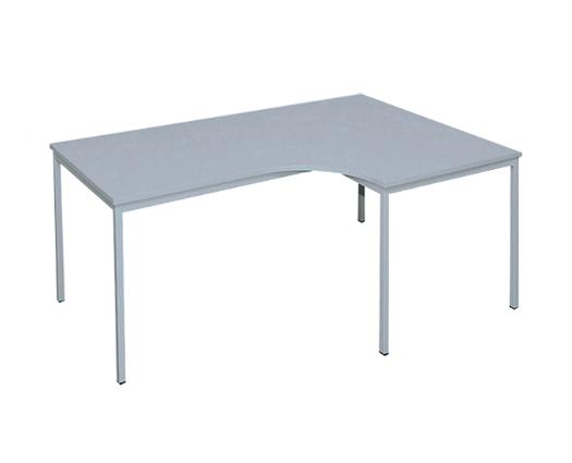 Freiform- Schreibtisch 200 x 120 cm (R), lichtgrau