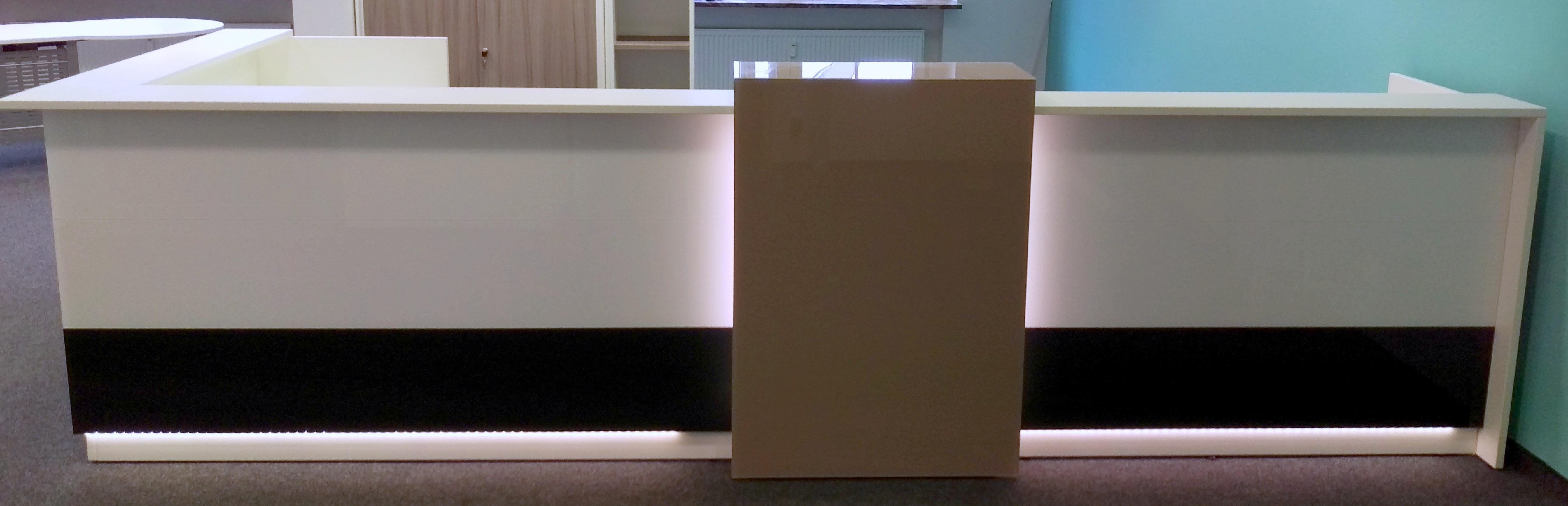 Febrü Empfangstheke 410 x 160 cm + Rollcontainer | GWV Büromöbel ...