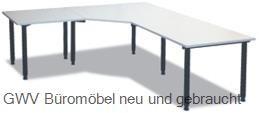 Winkel- Schreibtisch 280 x 280 cm grau, HV
