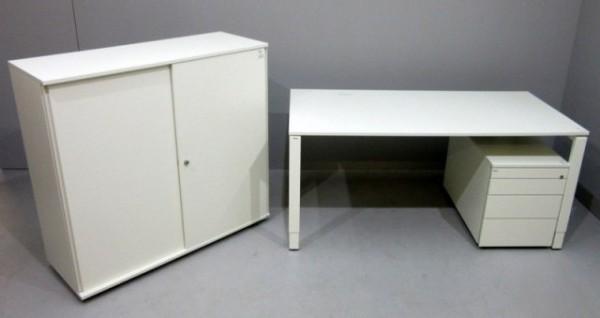 Bene - Schreibtisch 160 cm + Cont. + SB -3 OH