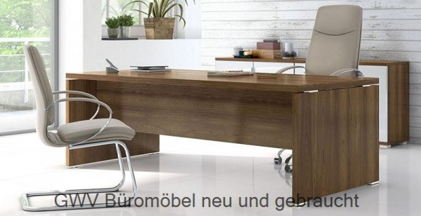 TK - Schreibtisch B 200 + Kombi-Cont 200 cm