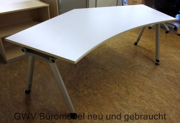 Schreibtisch dyes weiß cremeweiß umleimer holz gebraucht 200 x 80 cm ...