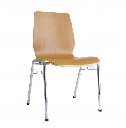 Holzschalenstuhl - Stapelstuhl buche