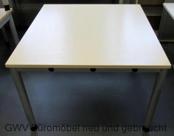 Tisch Beistelltisch Tisch 100 X 100 Cm Anstellen Lichtgrau Buche