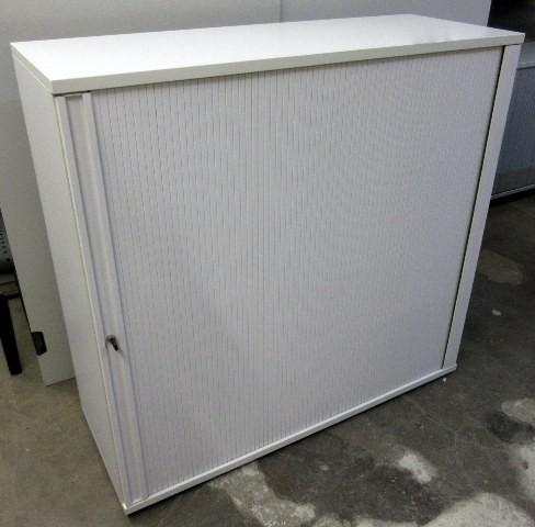 Haworth - Querrolloschrank 3 OH, B 120 cm weiß