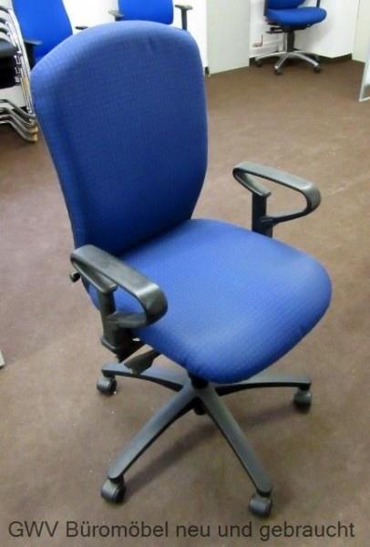 Dauphin - Bürodrehstuhl blau gemustert