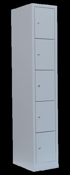 Personal-Fächer-Schrank / 5 Fächer, H 185 cm