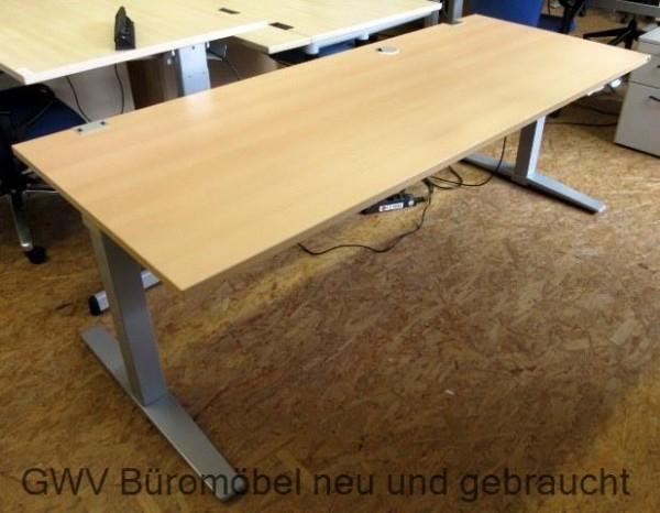 K & N - Steh- Sitz- Schreibtisch 200 cm, buche