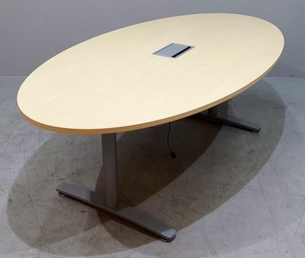 K & N - Besprechungstisch oval B 210 cm, ahorn
